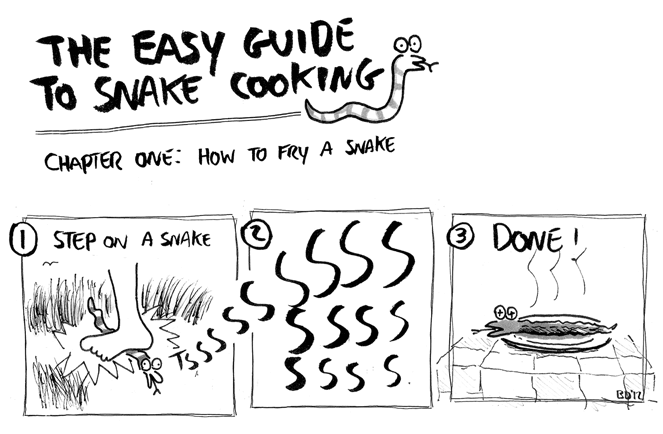 How to fry a snake